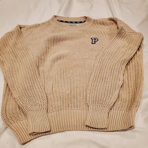 PINK Letter Sweater